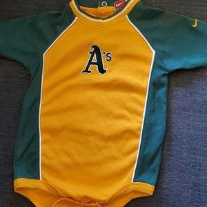 Oakland A's Toddler onesie